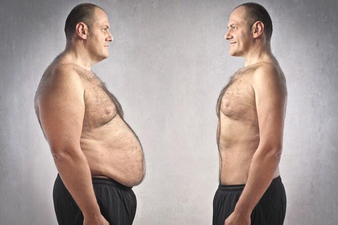 Понижением уровня тестостерона в организме