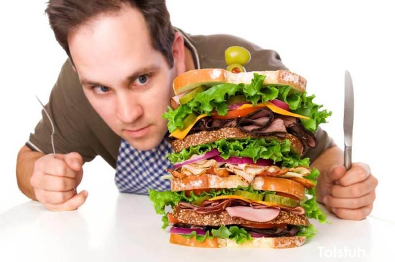 Употребление в пищу вредных продуктов